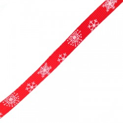 Ribbon Polyester Snowflake 10mm(~25yards/spool)