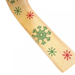 Ribbon Hemp Snowflake 38mm (~9.5yards/spool)