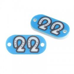 """Plexi Acrylic Connector Lucky Charm Tag """"22"""" 21x10mm"""