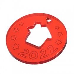 """Plexi Acrylic Lucky Charm Round House """"2022"""" 25mm"""
