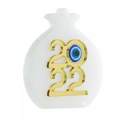 "Plexi Acrylic Lucky Deco Pomegranate ""2022""Resin Eye 72x80mm"