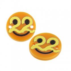 "Plexi Acrylic Lucky Connector Round ""22"" 15mm"