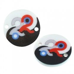 "Plexi Acrylic Lucky Connector Round ""22""18mm"