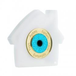 Plexi Acrylic Lucky Deco House w/ Wishes Evil Eye 89x79mm