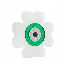 Plexi Acrylic Lucky Deco Four Leaf Clover Eye & Wishes 80mm