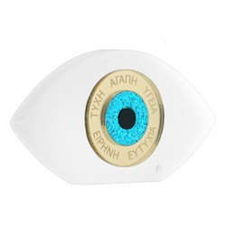 Plexi Acrylic Deco Eye w/ Wishes 99x55mm