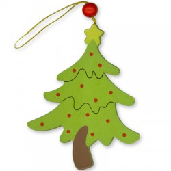Wooden Christmas Tree 110x80mm