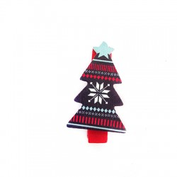 Wooden Clip Christmas 21x36mm
