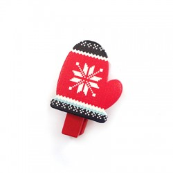 Wooden Clip Christmas 26x37mm