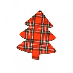 Wooden Lucky Pendant Christmas Tree 62x80mm