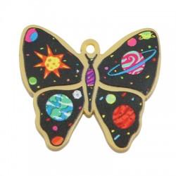 Plexi Acrylic Pendant Butterfly Space 33x30mm