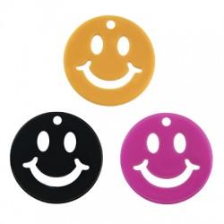 Πλέξι Ακρυλικό Μοτίφ Στρογγυλό Χαμογελαστό Πρόσωπο25mm