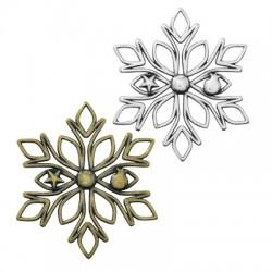 Zamak Lucky Pendant Snowflake 65mm