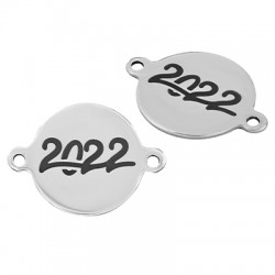 """Stainless Steel 304 Lucky Connector Round """"2022"""" 18mm"""