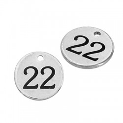 """Stainless Steel 304 Lucky Charm Round """"22"""" 12mm"""