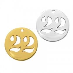 "Zamak Lucky Charm Round ""22"" 20mm"