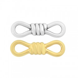 Zamak Connector Rope Knot 25x7mm