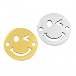 Zamak Connector Round Smile Face 15mm