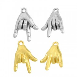 Brass Charm Hand 10x14mm
