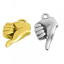 Brass Charm Hand 8x13mm