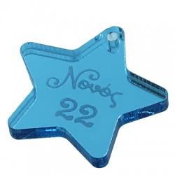 "Plexi Acrylic Pendant Star ""Νονός 22"" 25mm"