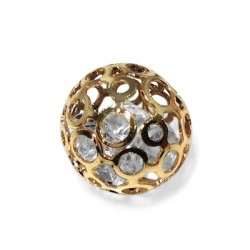 Steel Charm Ball with Stone 16mm