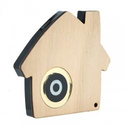 Ξύλινο με Πλέξι Ακρυλικό Επιτραπέζιο Γούρι Σπίτι 120x100mm