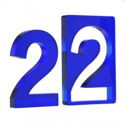 """Πλέξι Ακρυλικό Επιτραπέζιο Γούρι """"22"""" 60x90mm"""
