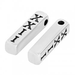 """Zamak Lucky Bar """"ΧΧΙΙ"""" Slider 7x30mm (Ø3.5mm)"""