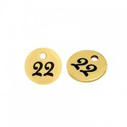 """Stainless Steel 304 Lucky Charm Round """"22""""8mm"""