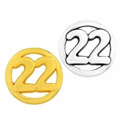 "Zamak Lucky Connector Round ""22"" 15mm"