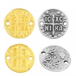 """Zamak Lucky Connector Round """"IC XC NI KA 22"""" 18mm"""