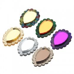 Plexi Acrylic Pendant Drop 25x34mm