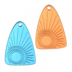 Plexi Acrylic Pendant Triangle Sun 24x34mm