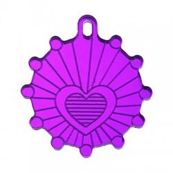 Πλέξι Ακρυλικό Μοτίφ Στρογγυλό Καρδιά 30mm