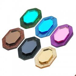 Plexi Acrylic Pendant Hexagon 22x35mm