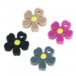 Plexi Acrylic Charm Flower 11mm