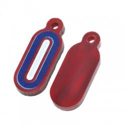 Plexi Acrylic Charm Tag Oval 8x18mm