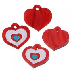 Πλέξι Ακρυλικό Μοτίφ Καρδιά 14x12mm