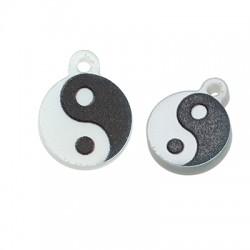 Πλέξι Ακρυλικό Μοτίφ Στρογγυλό Yin & Yang 18x11mm