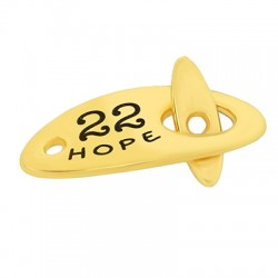"Zamak T-Clasp ""22"" Joy Hope 26x12mm"
