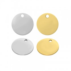 Stainless Steel 304 Charm Round 10mm/0.8mm