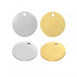 Stainless Steel 304 Charm Round 12mm/0.8mm