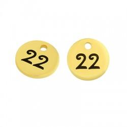 "Brass Lucky Charm Round ""22"" 8mm (Ø1.4mm)"