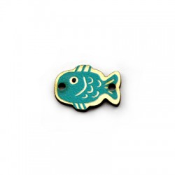 Wooden Connector Fish 12x17mm
