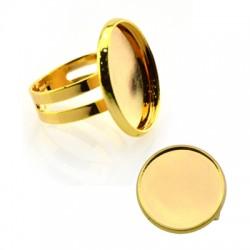 Brass Ring Round 20mm