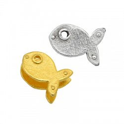 Brass Connector Fish 8x12mm