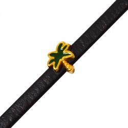 Passant en Métal/Zamak palmier émaillé 10mm (Ø 5,2x2,2mm)
