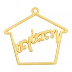 Zamak Lucky Pendant House Love 40x33mm
