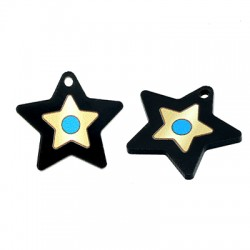 Πλέξι Ακρυλικό Μοτίφ Αστέρι Μάτι 24mm